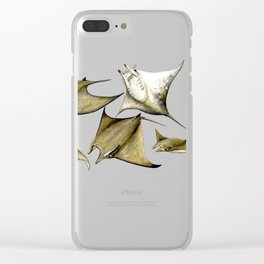 Chilean devil manta ray (Mobula tarapacana) Clear iPhone Case