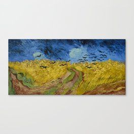 Wheat Field with Crows, Vincent Van Gogh Canvas Print