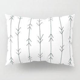 Grey, Steel: Arrows Pattern Pillow Sham