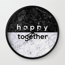 Happy Together Couples Quote Wall Clock