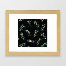 Iridescent pineapples Framed Art Print