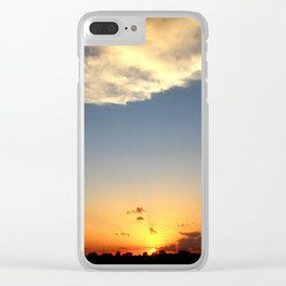 Sunset 042017 Caps, Texas Clear iPhone Case