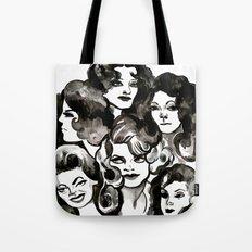 Six Women - Black & White Tote Bag