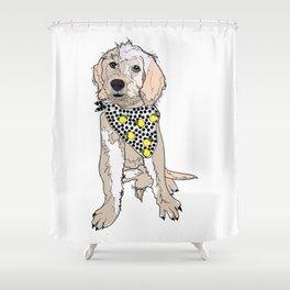 Lemon the Labradoodle Shower Curtain