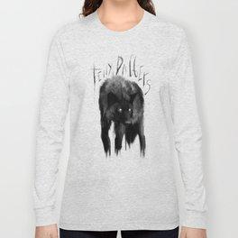 black dog Long Sleeve T-shirt