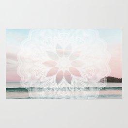 Seashell surf mandala Rug