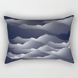 Navy Blue Mountains #2 #decor #art #society6 Rectangular Pillow
