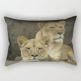 Queens of the Jungle Rectangular Pillow
