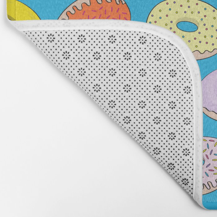 Donuts In The Sky By Everett Co Bath Mat