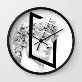 Profile of David statue by Miguel Angel (frame) Wall Clock