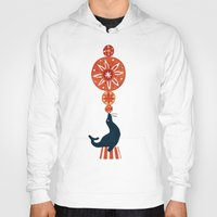 seal Hoodies featuring Circus Seal by Picomodi