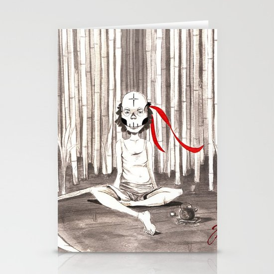Death Wears a Mask Stationery Cards