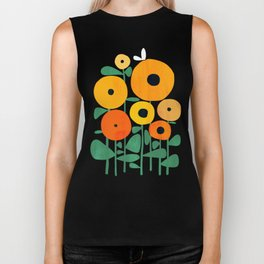 Sunflower and Bee Biker Tank