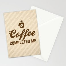 Coffee Completes Me Quote Stationery Cards
