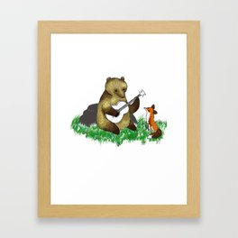 grees fox Framed Art Print