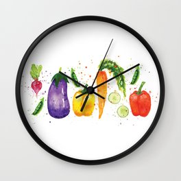 Very Veggie Wall Clock