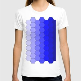 Hexagons (Blue) T-shirt