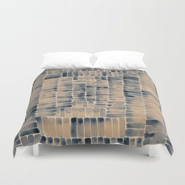 Watercolor abstract rectangles - neutral Duvet Cover