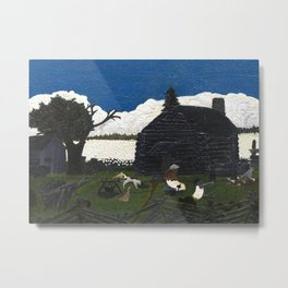 Cabin in the Cotton by Horace Pippin Metal Print