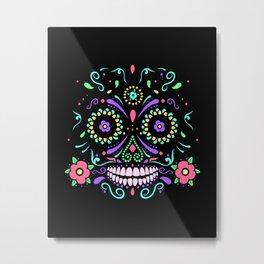 sugar skull dia de los muertos Metal Print