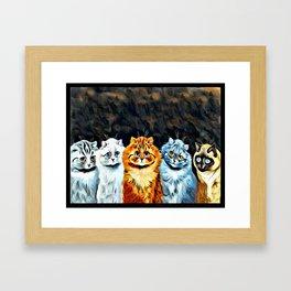 """Louis Wain's Cats """"Five Cats"""" Framed Art Print"""