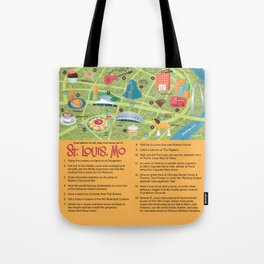 Square Map of St. Louis Tote Bag