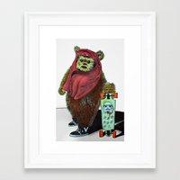 ewok Framed Art Prints featuring Ewok Carioca by Andriolo