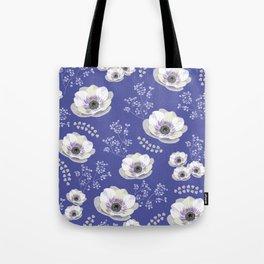 Anemones IV: blue pattern Tote Bag