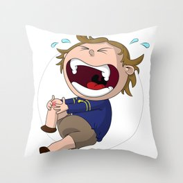 Skinned Knee of Hurtyness Throw Pillow