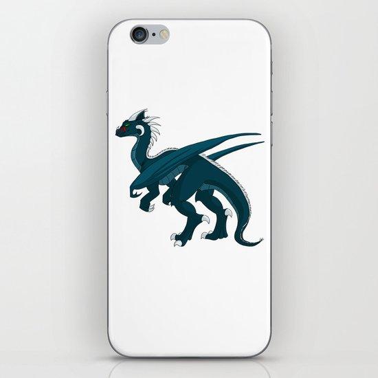Teal Dragon iPhone & iPod Skin