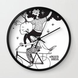 Espalhando Amor - Bicicleta Girassol Wall Clock