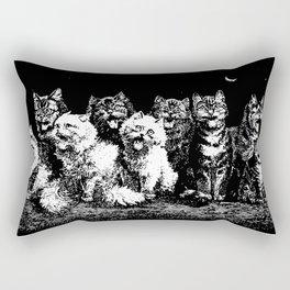 The Pack at Night Rectangular Pillow