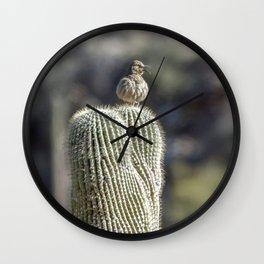 """Desert Curve-Bill"" by Murray Bolesta Wall Clock"