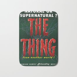 The Thing, Vintage Horror Movie Poster Bath Mat
