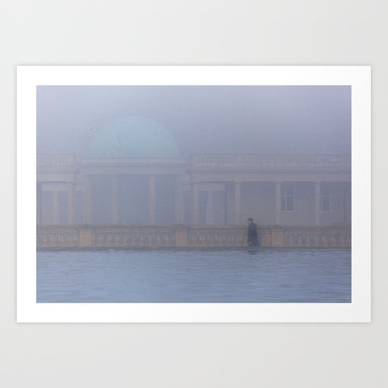 Out of the Fog, Eaton Park, Norwich Art Print