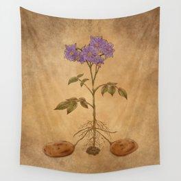 Anatomy of a Potato Plant Wall Tapestry