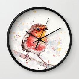 Adventure Awaits (Baby Robin Red Breast) Wall Clock
