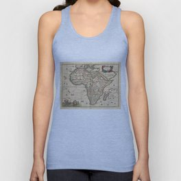 Vintage Map of Africa (1689) Unisex Tank Top