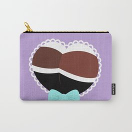 Heart Booty -- Purple Carry-All Pouch