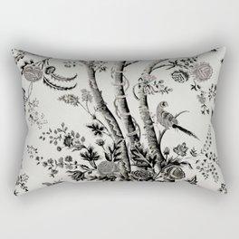 Peacock Tree Natural Rectangular Pillow