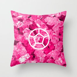 Rose Quartz Candy Gem Throw Pillow