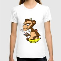 monkey island T-shirts featuring Groovy Monkey by Groovy Gangster