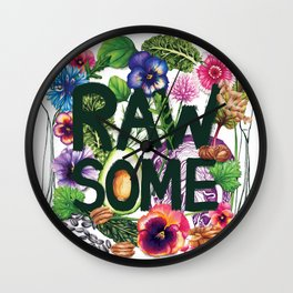 Rawsome - Plant Power Wall Clock