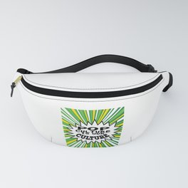 """Tacky and sparkling """"Pop Culture Is Out Culture"""" tee design. Perfect gift this seasons of giving!  Fanny Pack"""