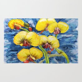 Bacon & Eggs Abstract Flower Painting Rug
