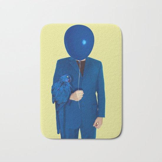 blue man Bath Mat