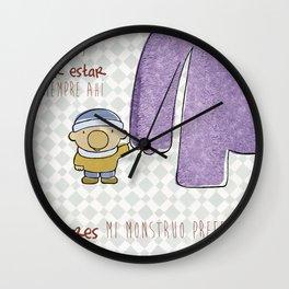 cojín del monstruo preferido Wall Clock