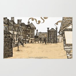 Victorian Frankwell Under Water, sepia Rug