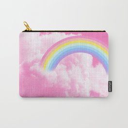 Cotton candy pink sky with rainbow Carry-All Pouch