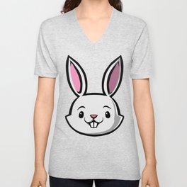 Cute Kids Bunny Unisex V-Neck
